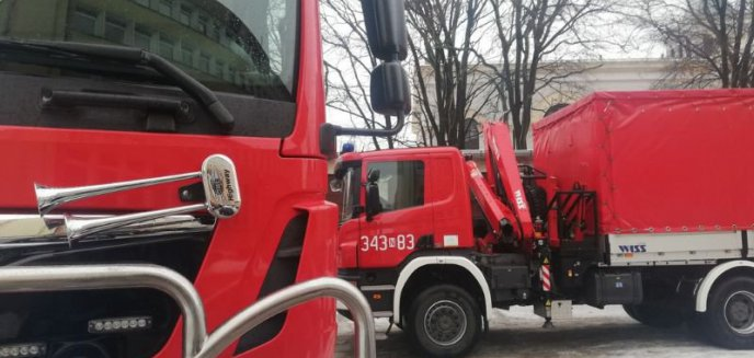 Artykuł: Strażacy dostarczyli płyn do dezynfekcji