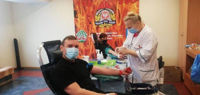 Artykuł: Udana akcja poboru krwi u strażaków