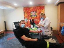 Udana akcja poboru krwi u strażaków