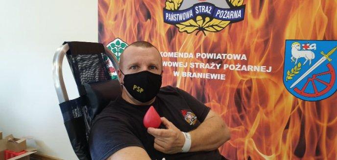 Artykuł: Kolejna akcja poboru krwi u braniewskich strażaków