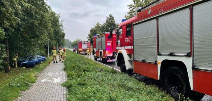 Artykuł: Glinka -Volkswagen uderzył w drzewo