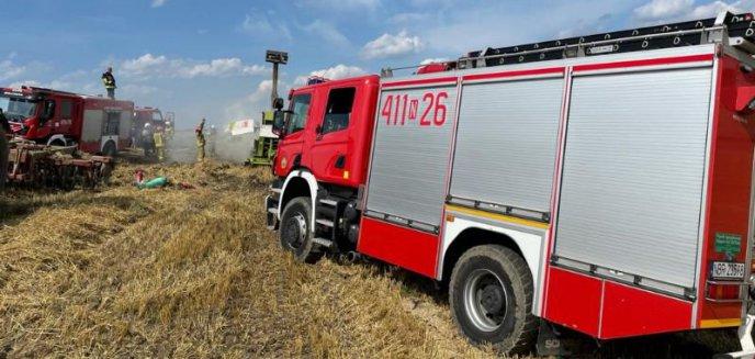 Artykuł: Pożar prasy i rżyska w Karwinach
